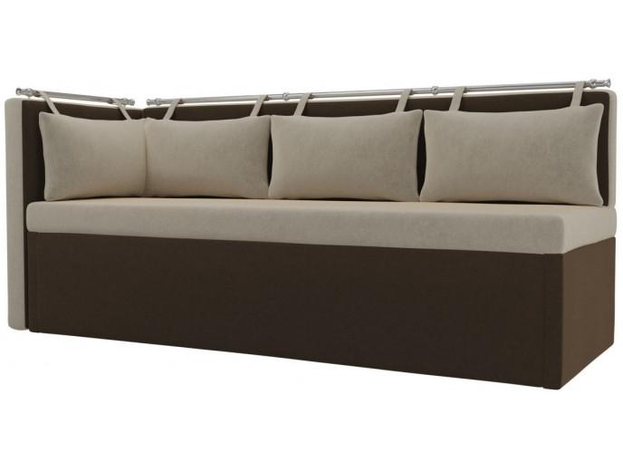 """Кухонный диван """"Метро"""" с углом микровельвет"""