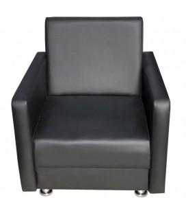 """Офисное кресло для отдыха """"Пантера"""" черный кожзам"""