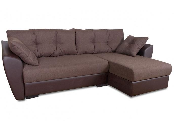 """Угловой диван """"Амстердам"""" рогожка + экокожа"""