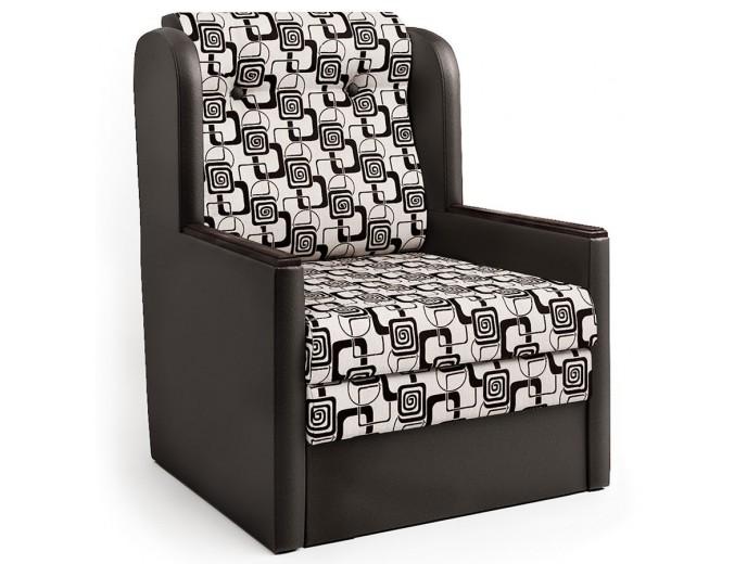 """Кресло-кровать """"Классика"""" Д шенилл ромб и экокожа шоколад"""