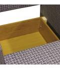 """Кресло-кровать """"Классика"""" В шенилл ромб и экокожа беж"""
