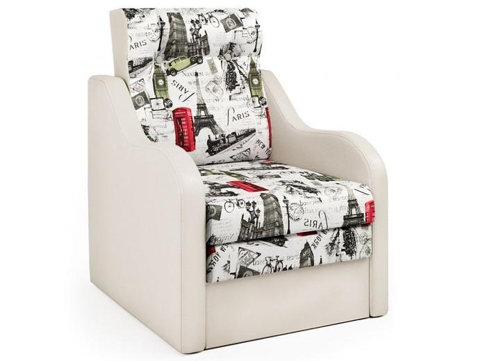 """Кресло-кровать """"Классика"""" В велюр и экокожа беж"""