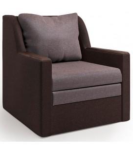 """Кресло-кровать """"Соло"""" рогожка латте и шоколад"""