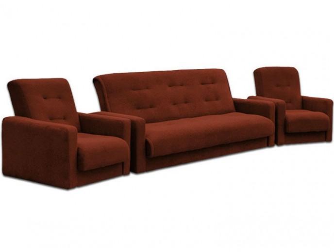 """Комплект мягкой мебели """"Милан"""" коричневый"""