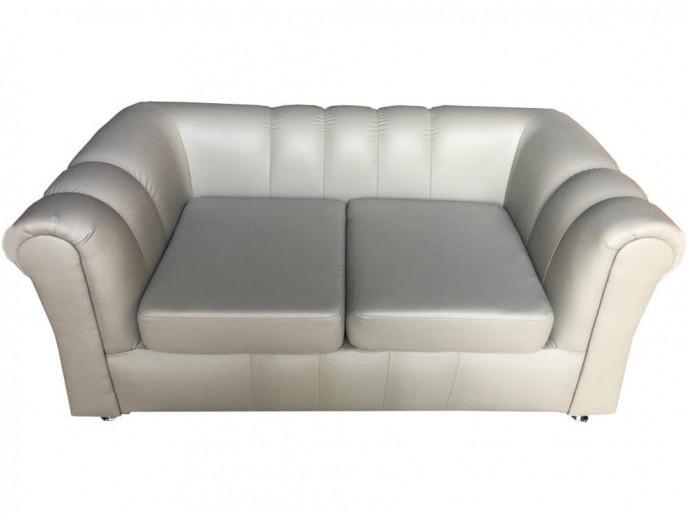 """Офисный диван """"Брайтон"""" экокожа белый"""