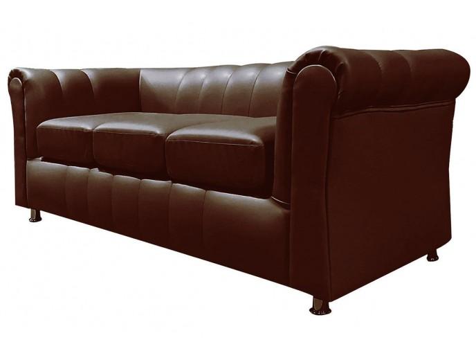 """Офисный диван """"Брайтон"""" трехместный коричневый"""