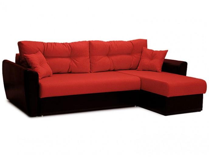 """Угловой диван """"Амстердам"""" красный"""