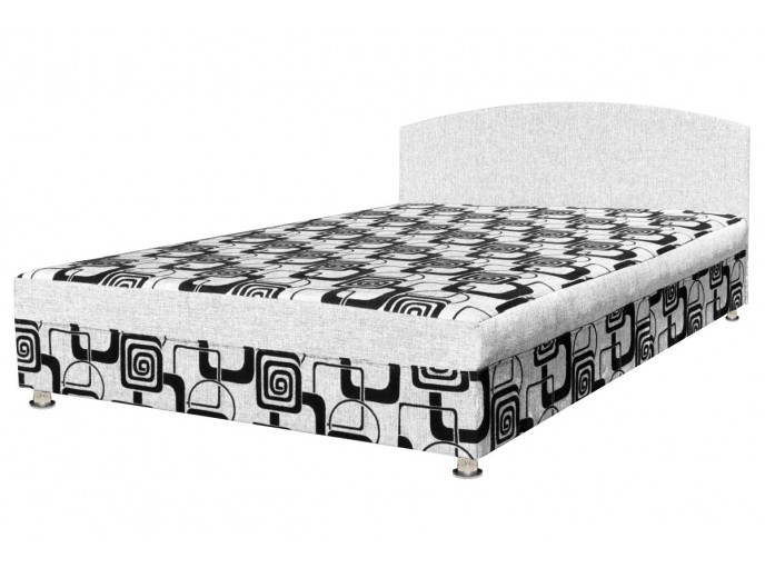 """Кушетка """"Кровать с ящиком"""" в рогожке квадраты"""
