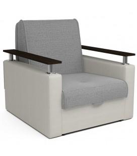 """Кресло-кровать """"Чарм"""" рогожка серый экокожа белый"""
