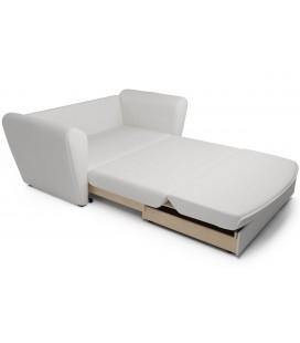 """Выкатной диван """"Квартет"""" экокожа белый"""