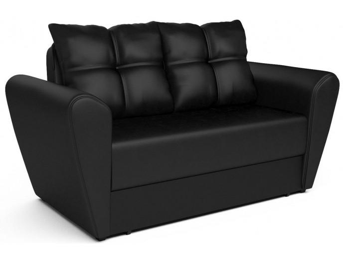"""Выкатной диван """"Квартет"""" экокожа черный"""