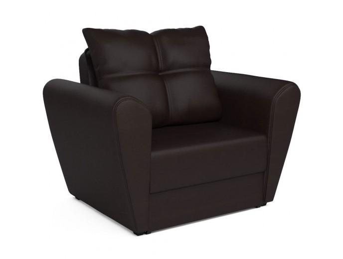 """Кресло-кровать """"Квартет"""" экокожа шоколад"""