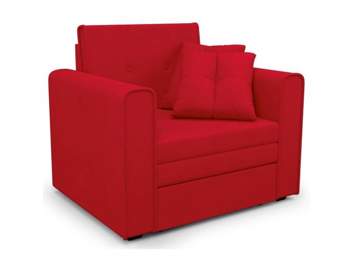 """Кресло-кровать """"Санта"""" микровельвет Кордрой красный"""
