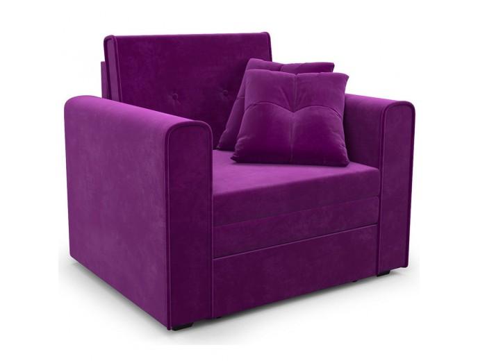 """Кресло-кровать """"Санта"""" микровельвет Кордрой фиолет"""