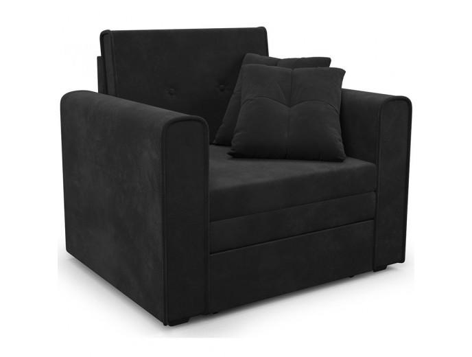 """Кресло-кровать """"Санта"""" велюр черный"""