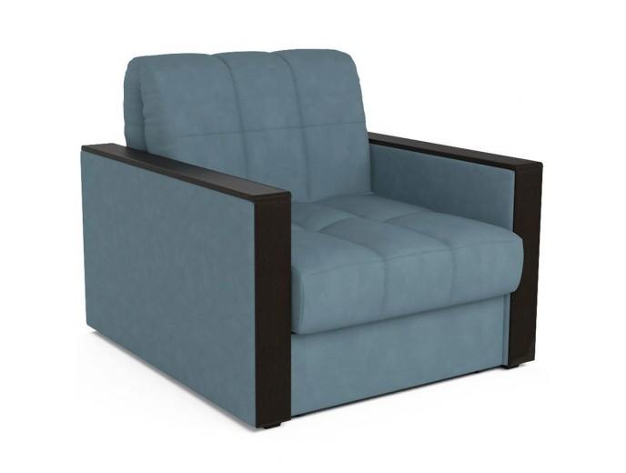 """Кресло-кровать """"Техас"""" велюр голубой"""
