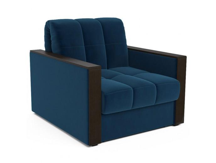 """Кресло-кровать """"Техас"""" велюр темно-синий"""