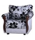 """Кресло для отдыха """"Клайд"""" рогожка цветы артикул 1033"""