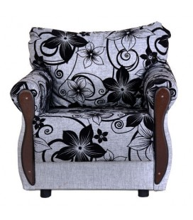 """Кресло для отдыха """"Клайд"""" рогожка Цветы"""