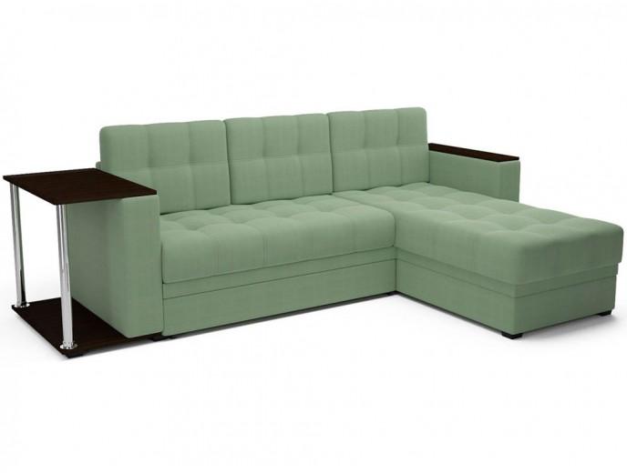 """Угловой диван """"Атлант"""" кордрой зеленый"""