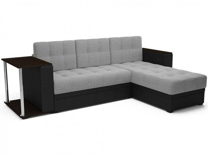 """Угловой диван """"Атлант"""" рогожка серый"""