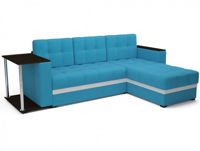 """Угловой диван """"Атлант"""" рогожка синий"""