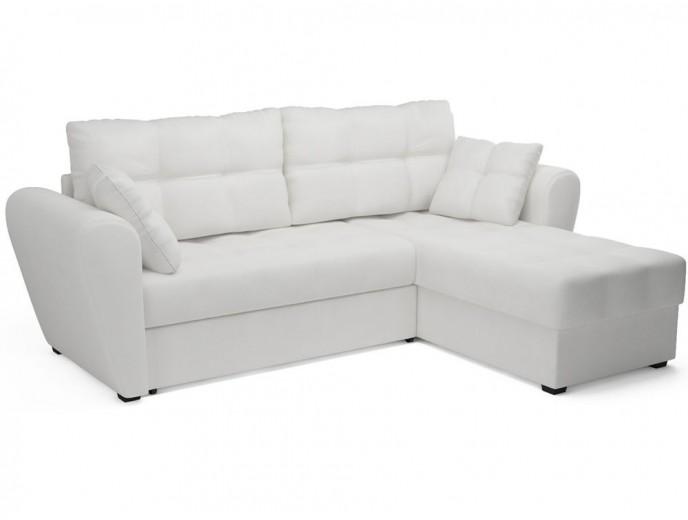"""Угловой диван """"Амстердам"""" экокожа белый"""
