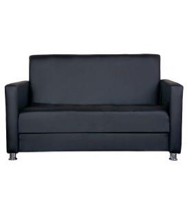 """Офисный диван """"Пантера"""" черный кожзам"""