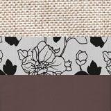 Рогожка бежевый Экокожа коричневый Подушки цветы