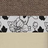 Рогожка коричневый Экокожа бежевый Подушки цветы