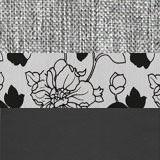 Рогожка серый Экокожа черный Подушки цветы