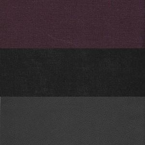 Вельвет фиолетовый черный Экокожа черный