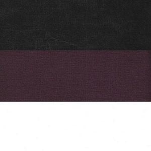 Вельвет черный фиолетовый Экокожа белый