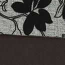 Шенилл Мальта серая цветы и Экокожа Поларис шоколад