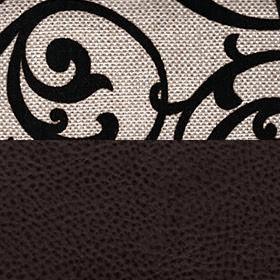 Шенилл мальта беж узор Экокожа поларис шоколад