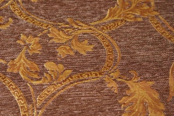 шенилл Людовик коричневый крупный вензель