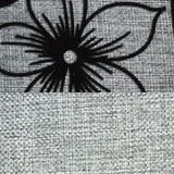 рогожка Цветы и рогожка Серый