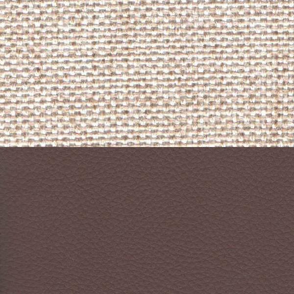 Рогожка бежевый Экокожа коричневый