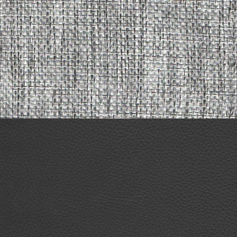 Рогожка серый Экокожа черный