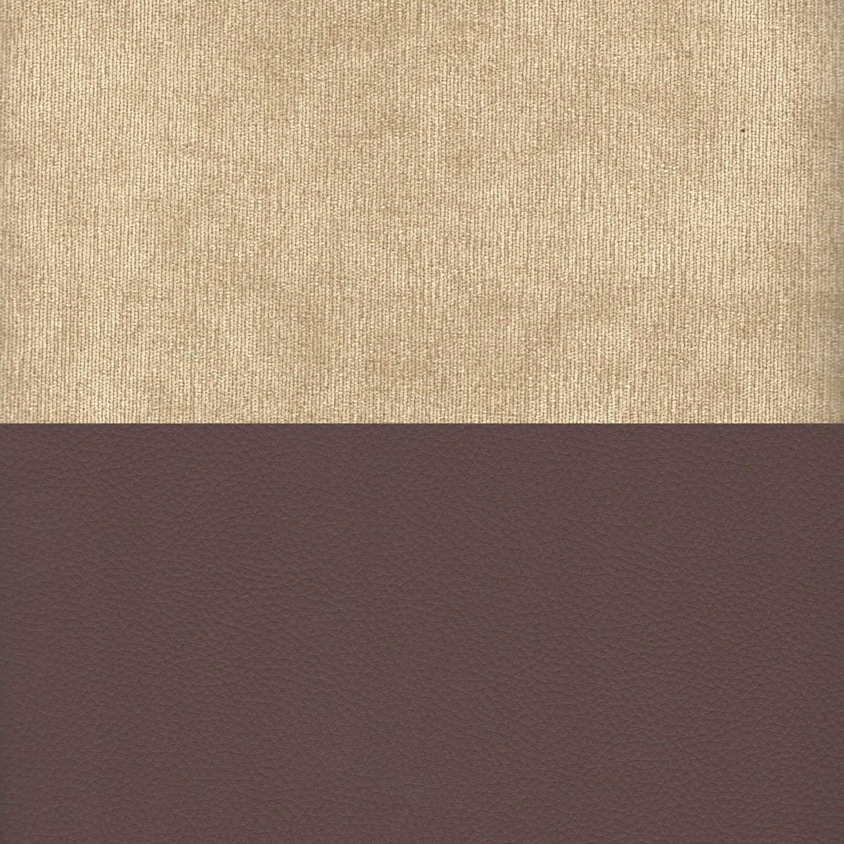 Вельвет бежевый Экокожа коричневый