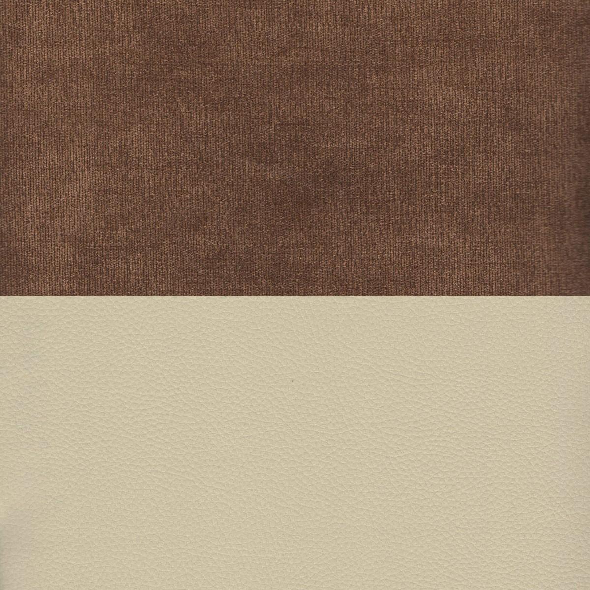 Вельвет коричневый Экокожа бежевый