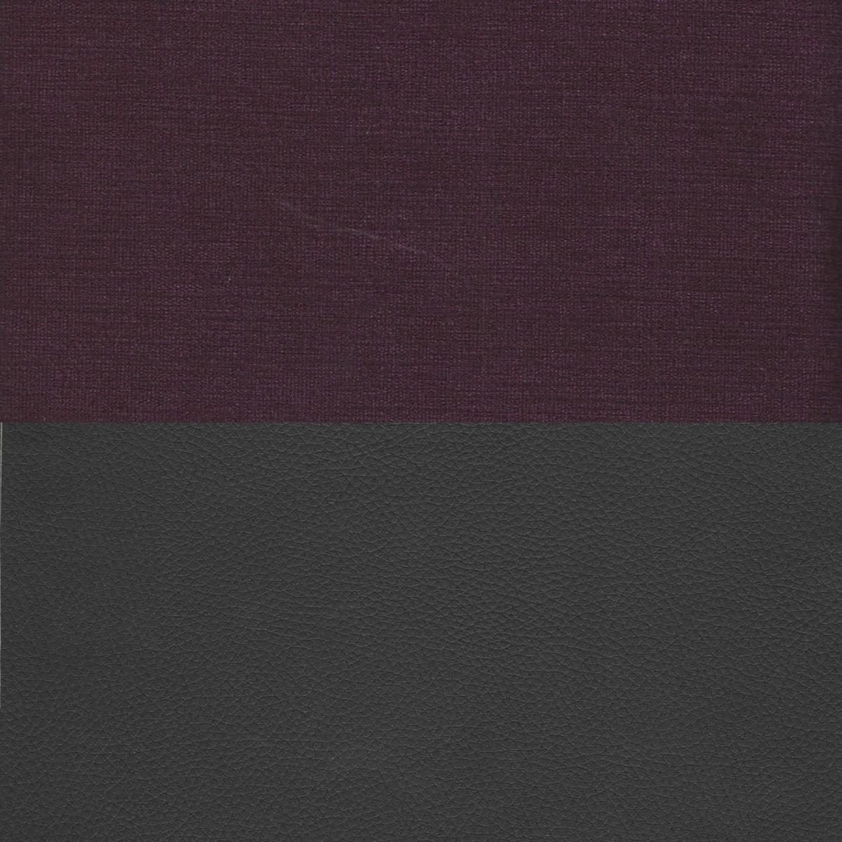 Вельвет фиолетовый Экокожа черный