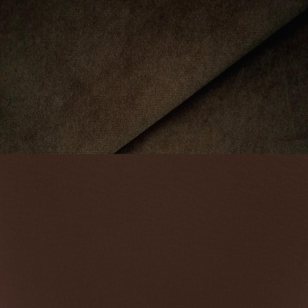 велюр MIX pln 22 + Иск. кожа Rio dk Brown