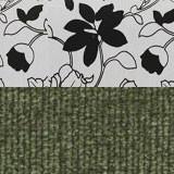 Рогожка на флоке + вельвет зеленый
