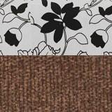 Рогожка на флоке + вельвет коричневый