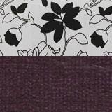 Рогожка на флоке + вельвет фиолетовый