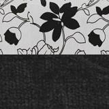 Рогожка на флоке + вельвет черный