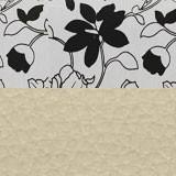 Рогожка на флоке + экокожа бежевая