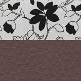 Рогожка на флоке + экокожа коричневая