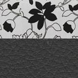 Рогожка на флоке + экокожа черная